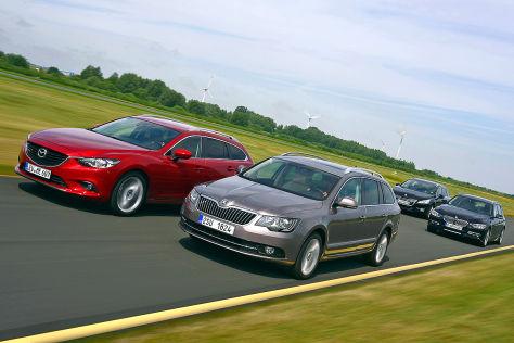 Vier Kombis mit Diesel im Vergleich