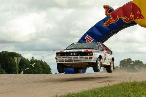 Jari-Matti Latvala saß in Estland am Steuer eines historischen Audi Quattro