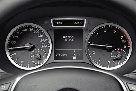 Tempomat in einer Mercedes B-Klasse