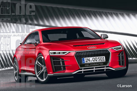 Audi Quattro Sportwagenstudie (Illustration)