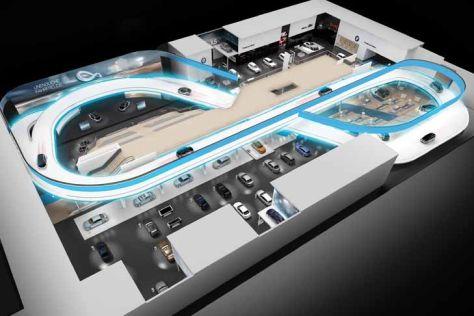 BMW-Fahrbahn auf der IAA