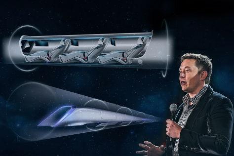 Superzug Hyperloop von Tesla-Gründer Elon Musk