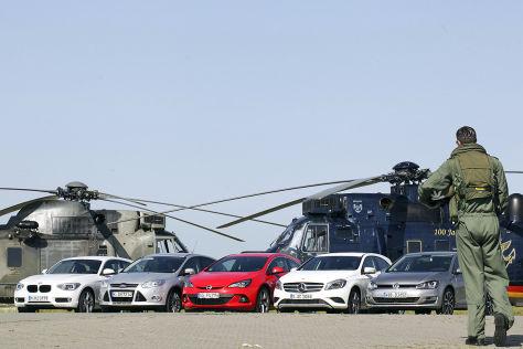 Fünf Autos im Bedientest