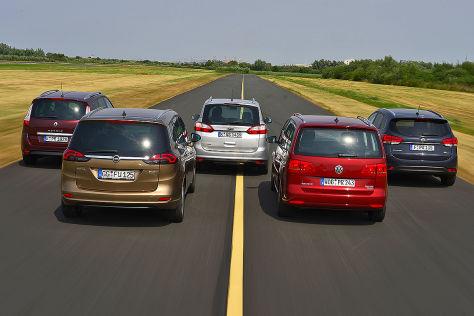 Fünf Kompaktvans im Vergleich