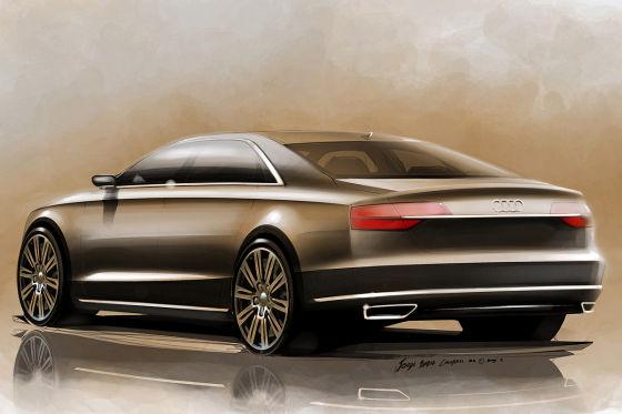 Audi A8 Facelift Illustration Zeichnung