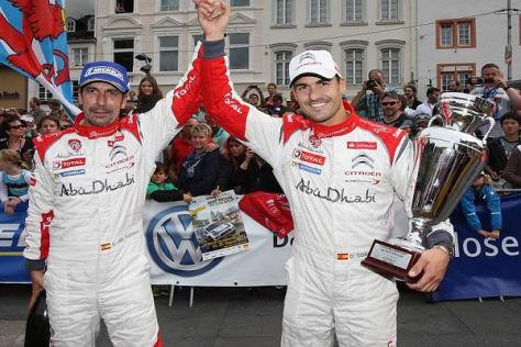 Dani Sordo (re.) und Carlos del Barrio (li.) feierten ihren ersten WRC-Sieg