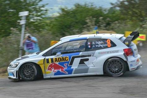 WM-Favorit Sebastien Ogier hat die Führung der Rallye Deutschland übernommen