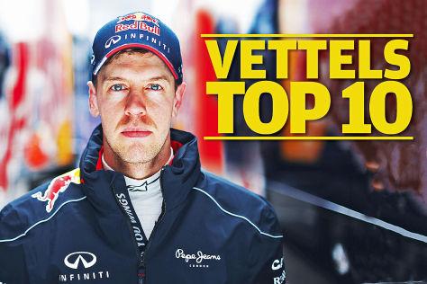 Das sind Vettels Top 10