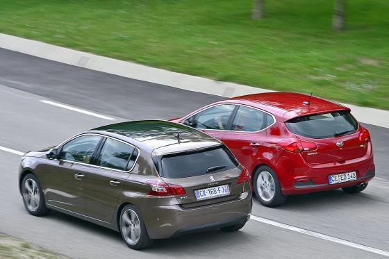 Kia cee'd Peugeot 308