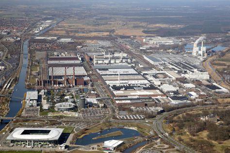 VW-Werk Wolfsburg Luftaufnahme
