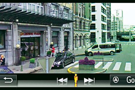 Google Street View in Toyota-Navi