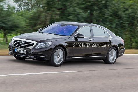 Autonome Mercedes S-Klasse: Mitfahrt im Prototyp