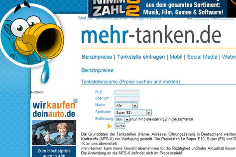 Internetseite von mehr-tanken.de