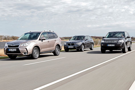 BMW X1 Land Rover Freelander Subaru Forester