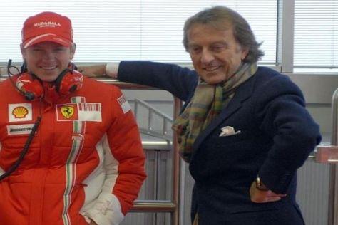 Nicht immer war das Verhältnis zwischen Räikkönen und Montezemolo so rosig