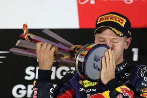 Auf dem Weg zum Titel: Vettel in Singapur unschlagbar