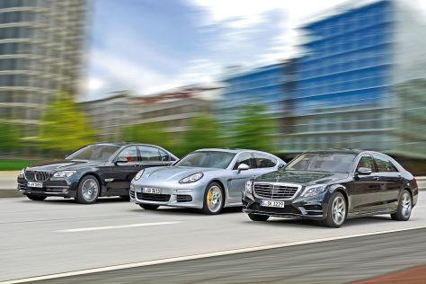 BMW 7er Mercedes S-Klasse Porsche Panamera