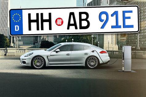 Kennzeichnung von Elektro-Autos