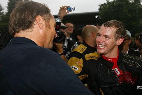 Gerhard Berger konnte mit Sebastian Vettel dessen ersten Sieg bei Toro Rosso feiern
