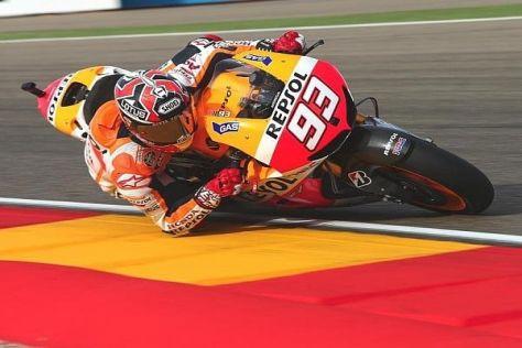 Marc Marquez bezwang auch im Qualifying von Aragon die Konkurrenz