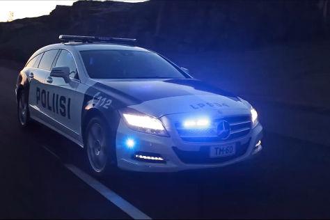 Mercedes CLS 350 CDI Shhoting Brake der finnischen Polizei