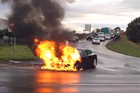Tesla-Aktie bricht nach Brand ein