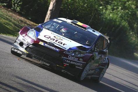 Thierry Neuville fuhr am Freitagnachmittag an die Spitze der Rallye Frankreich
