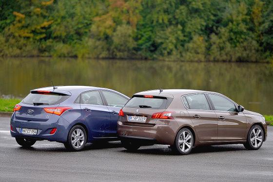 Hyundai i30 Peugeot 308