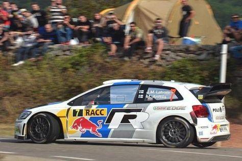 Jari-Matti Latvala geht als Führender in den Schlusstag der Rallye Spanien