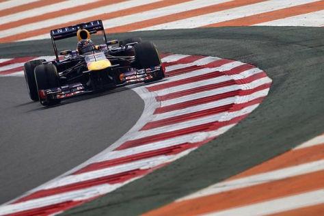Sebastian Vettel fuhr unbekümmert auf Sieg, doch an der Red-Bull-Box zitterte man