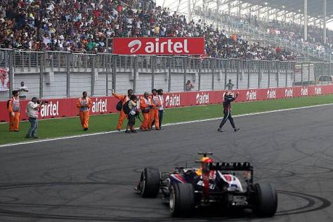 Sebastian Vettel hätte eigentlich direkt in den Parc ferme kommen müssen