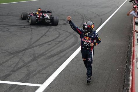 Sebastian Vettel hatte sich in Noida einen extravaganten Parkplatz gesucht
