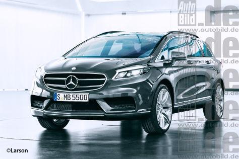 Mercedes Sport Cruiser Frontansicht Illustration (Nachfolger der R-Klasse)