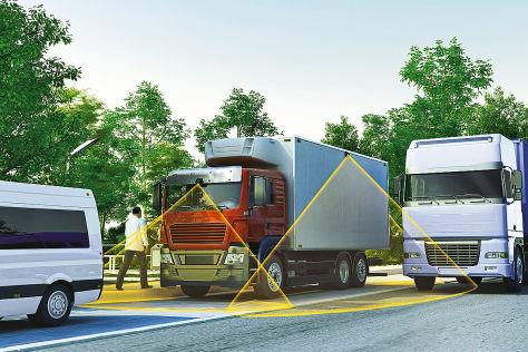Rundumsicht von Continental bei Lkw