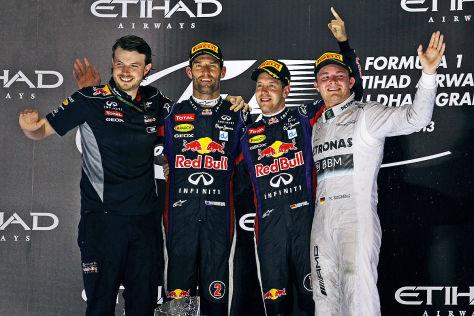 Formel 1 Mark Webber, Sebastian Vettel, Nico Rosberg