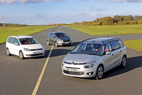 Citroën C4 Grand Picasso Kia Carens VW Touran