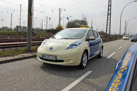 Nissan Leaf E-Taxi Hamburg