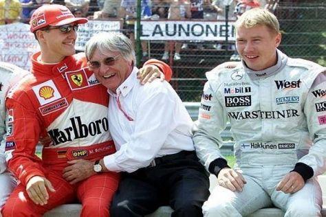 Bernie Ecclestone pflegte seit jeher ein inniges Verhältnis mit diversen Piloten
