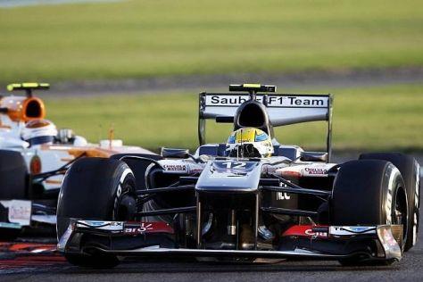 Der Schein trügt: Sauber liegt nun deutlich hinter Force India