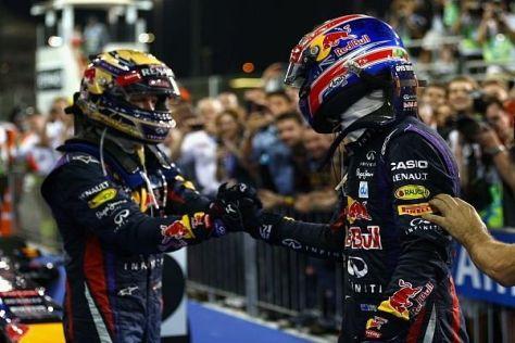 Sebastian Vettel und Mark Webber: Sieger im Teamduell war meist der junge Deutsche