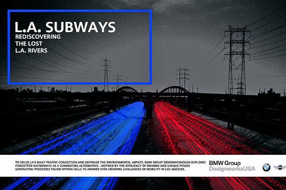 """BMW-Entwurf """"L.A. Subways"""" für die LA Design Challenge 2013"""