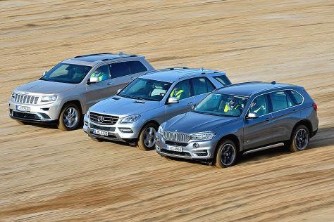Erster Vergleich Bmw X5 Vs Mercedes Ml Und Jeep Grand