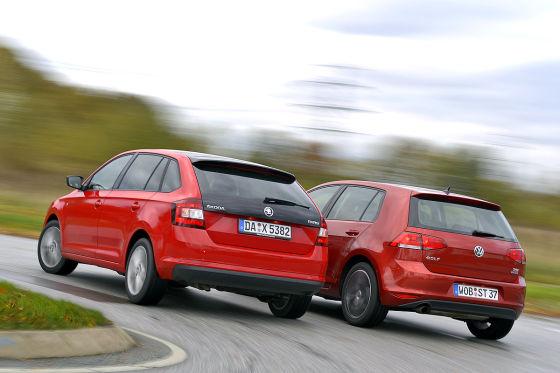 Skoda Rapid Spaceback VW Golf