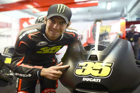 Cal Crutchlow war mit seinem ersten Tag als Ducati-Pilot sehr zufrieden