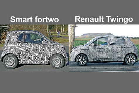 Erlkönige Smart fortwo / Renault Twingo