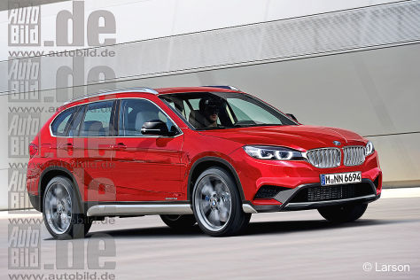 BMW X2 Illustration Frontansicht