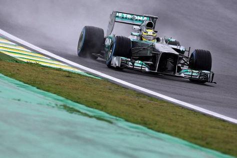 Nico Rosberg hatte am Freitag nach beiden Einheiten die Nase vorn