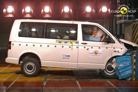 VW T5 im Euro NCAP Crashtest