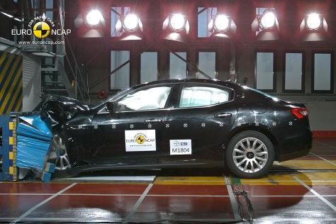 Maserati Ghibli im Euro-NCAP-Crashtest