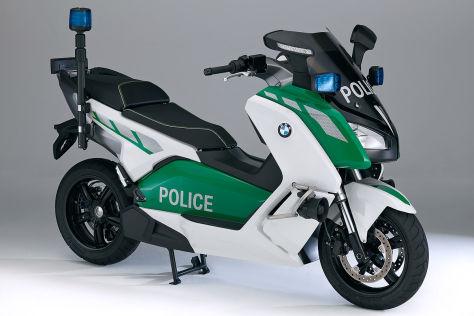 BMW C Evolution als Polizei-Scooter auf der Milipol 2013